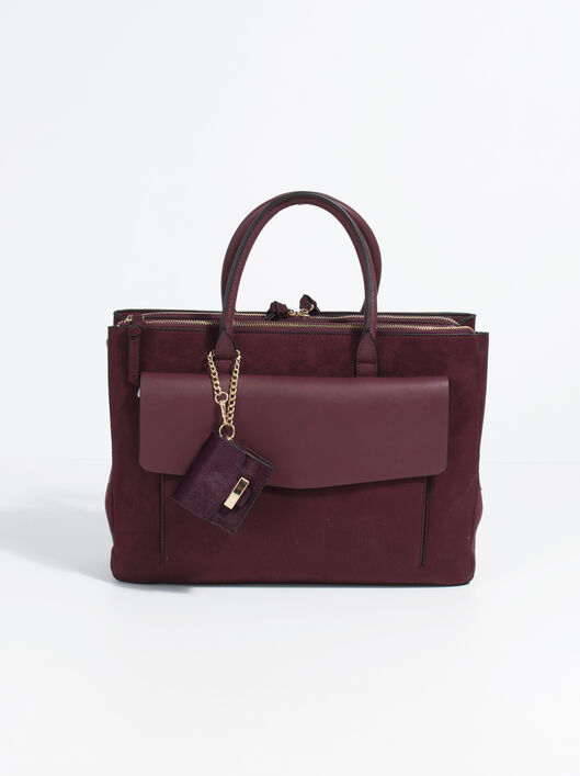 Minimal Briefcase, Burgundy, hi-res