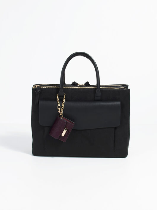 Minimal Briefcase, Black, hi-res