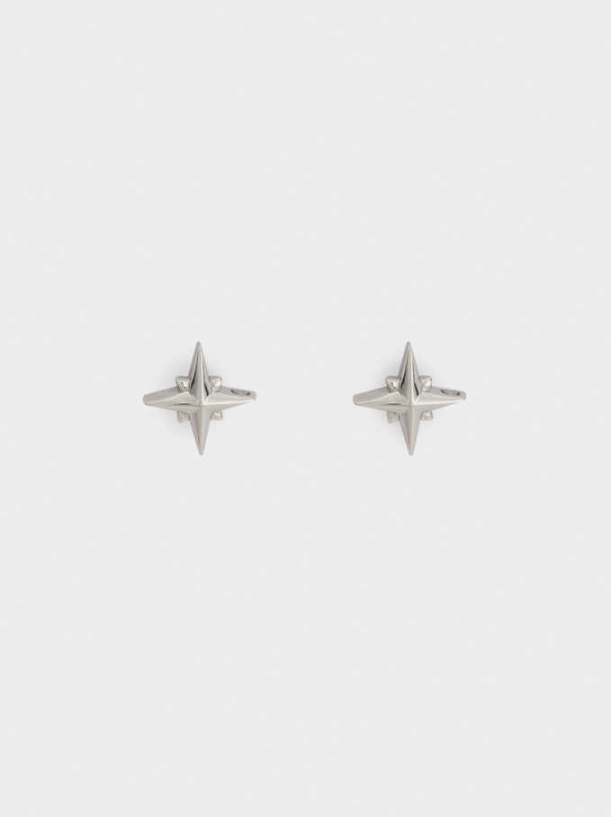 925 Silver Star Studs, Silver, hi-res
