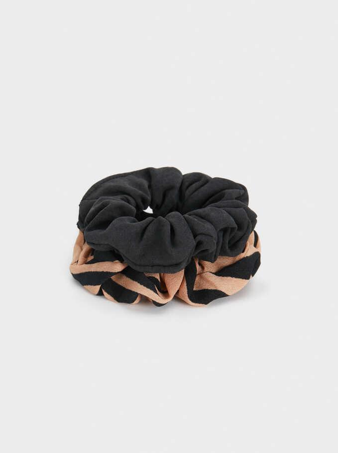 Set Of Hair Scrunchies, Pink, hi-res