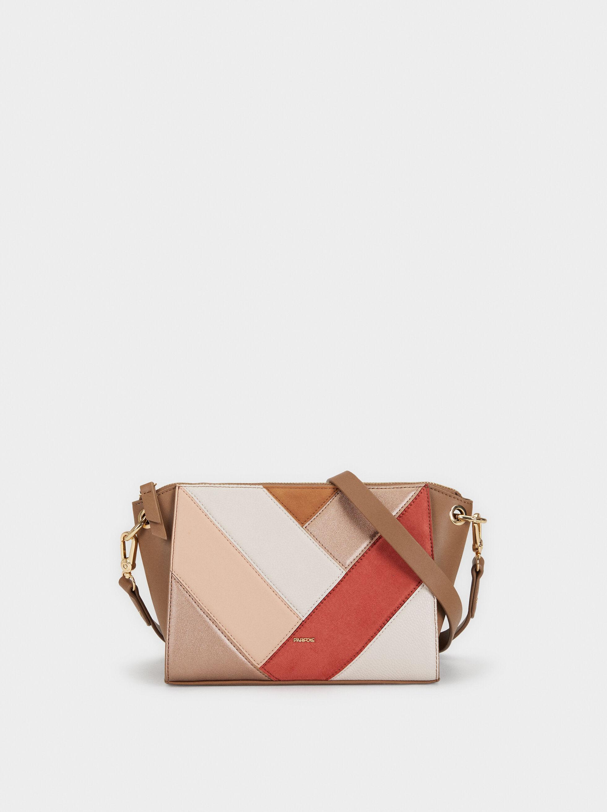 Patchwork Crossbody Bag, Pink, hi-res