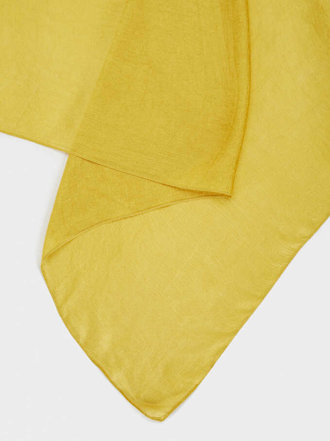 Satin Finish Pashmina, Mustard, hi-res