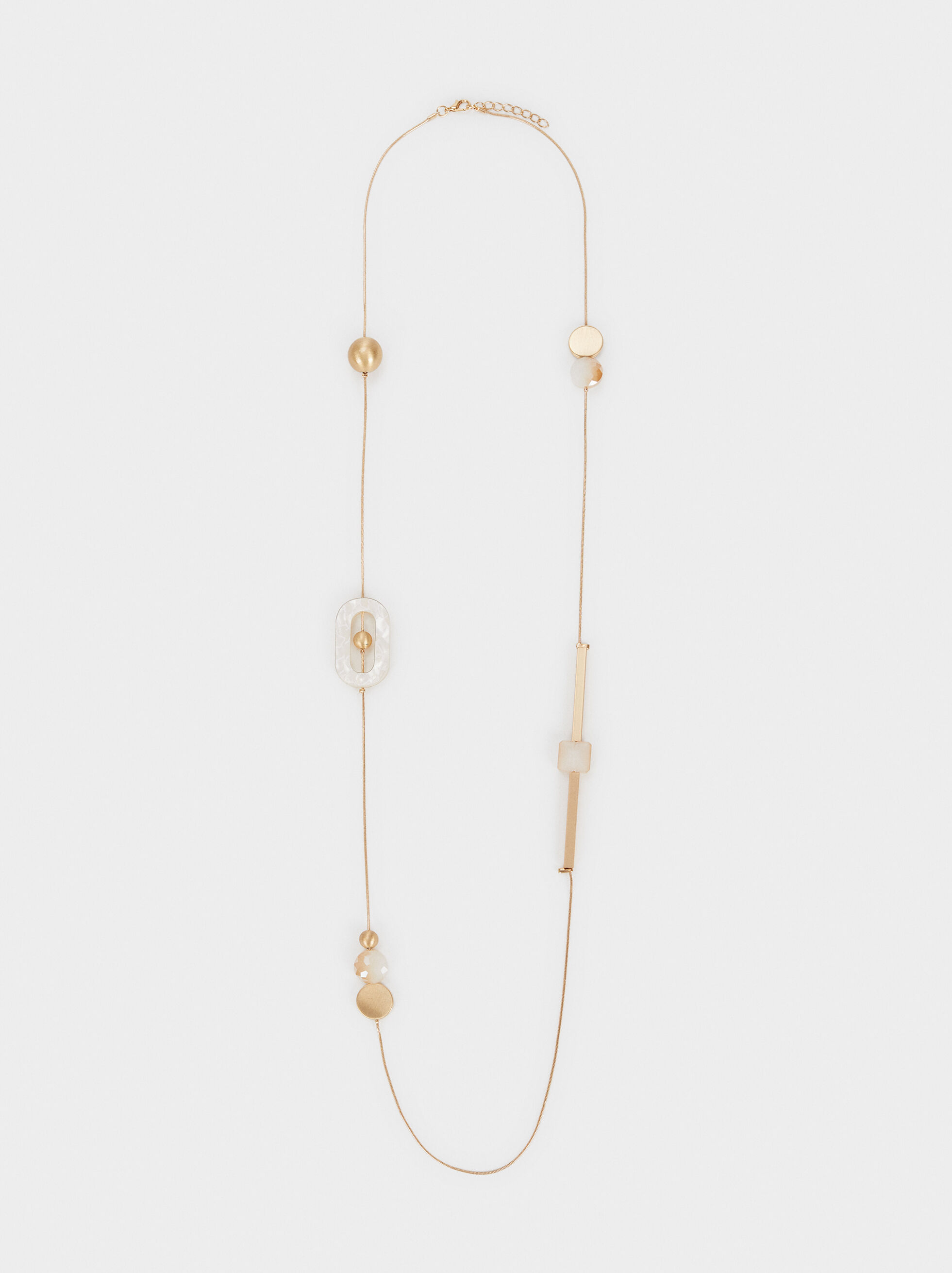 Creme Long Necklace, Multicolor, hi-res