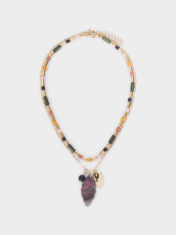 Conjunto De Collares Combinados Con Charms, Multicor, hi-res