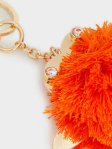 Crab Key Ring, Orange, hi-res