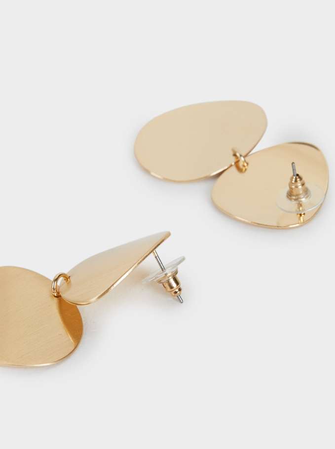 Medium Basic Earrings, Golden, hi-res