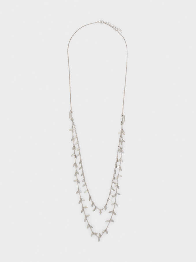 Long Necklace With Pendants, Silver, hi-res