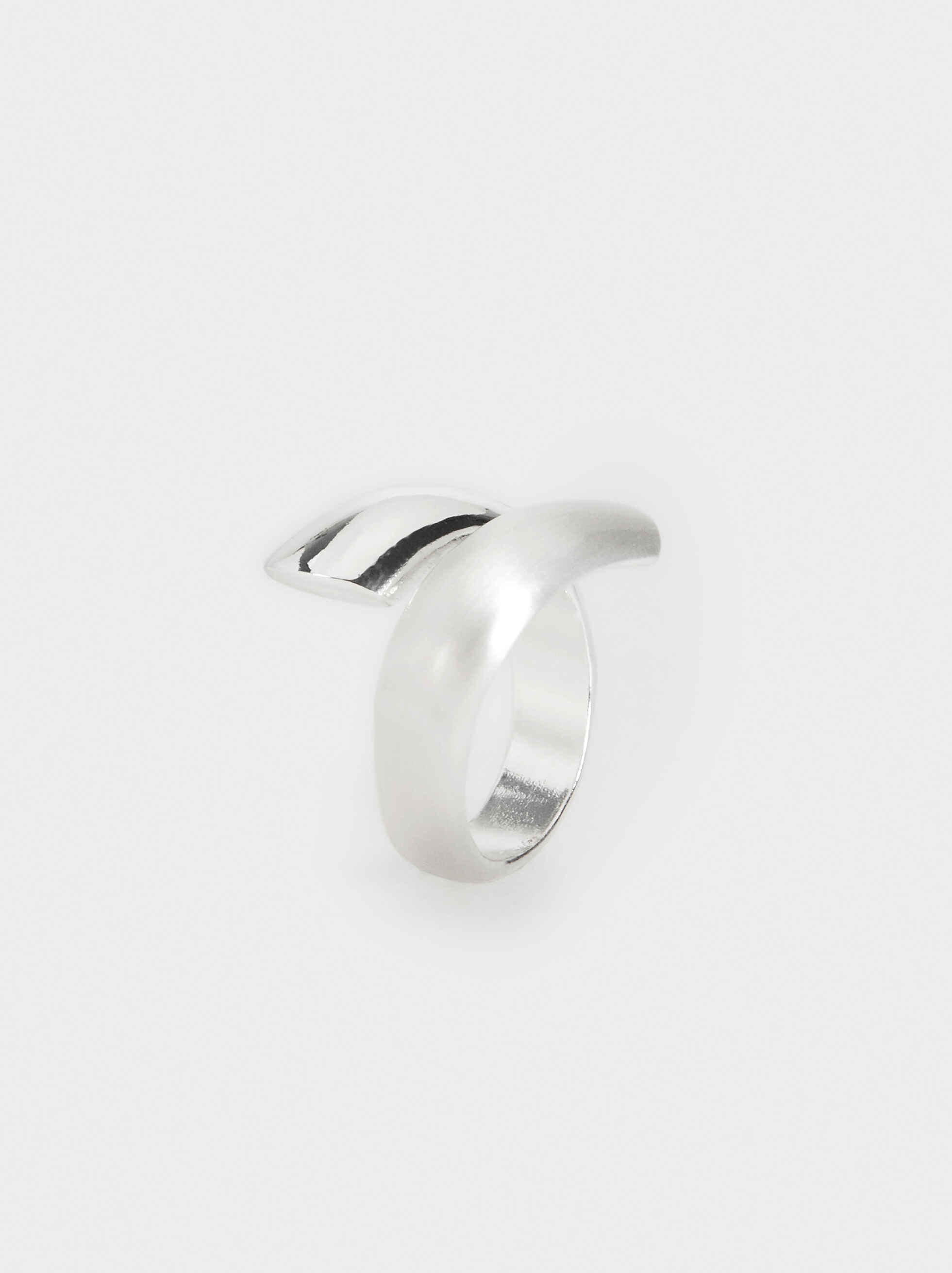 Silver-Plated Spiral Ring, , hi-res