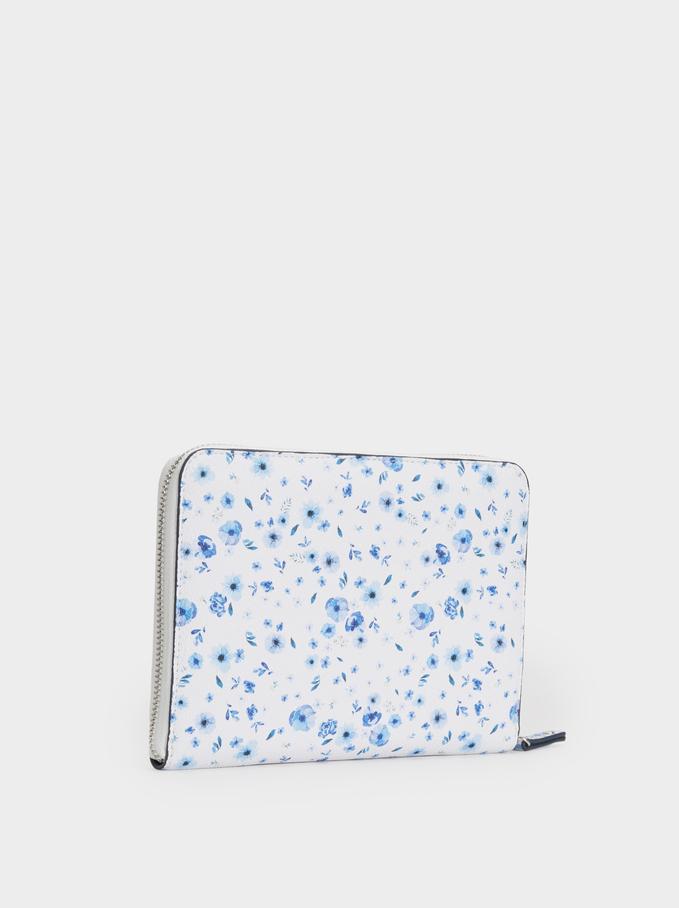 Agenda 2019/2020 Estampada Floral, Azul, hi-res