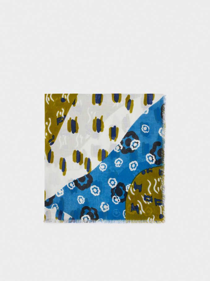 Pañuelo Con Estampado, Azul, hi-res