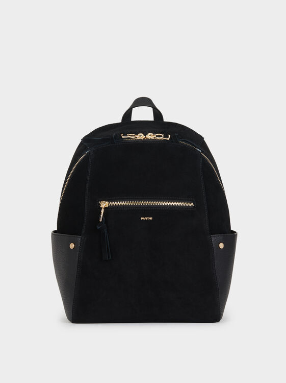 Suede Backpack, , hi-res