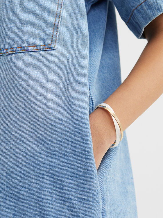 Creme Rigid Bracelet, Multicolor, hi-res