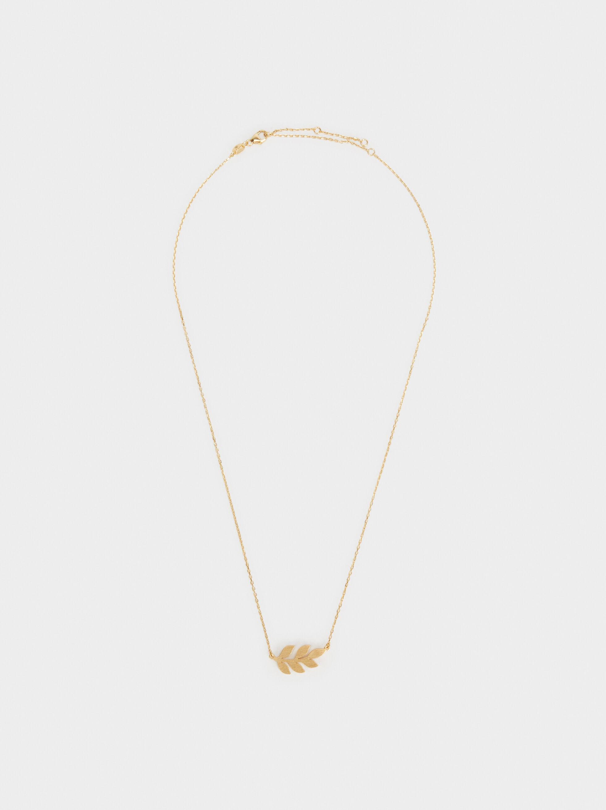 925 Silver Leaf Necklace, , hi-res