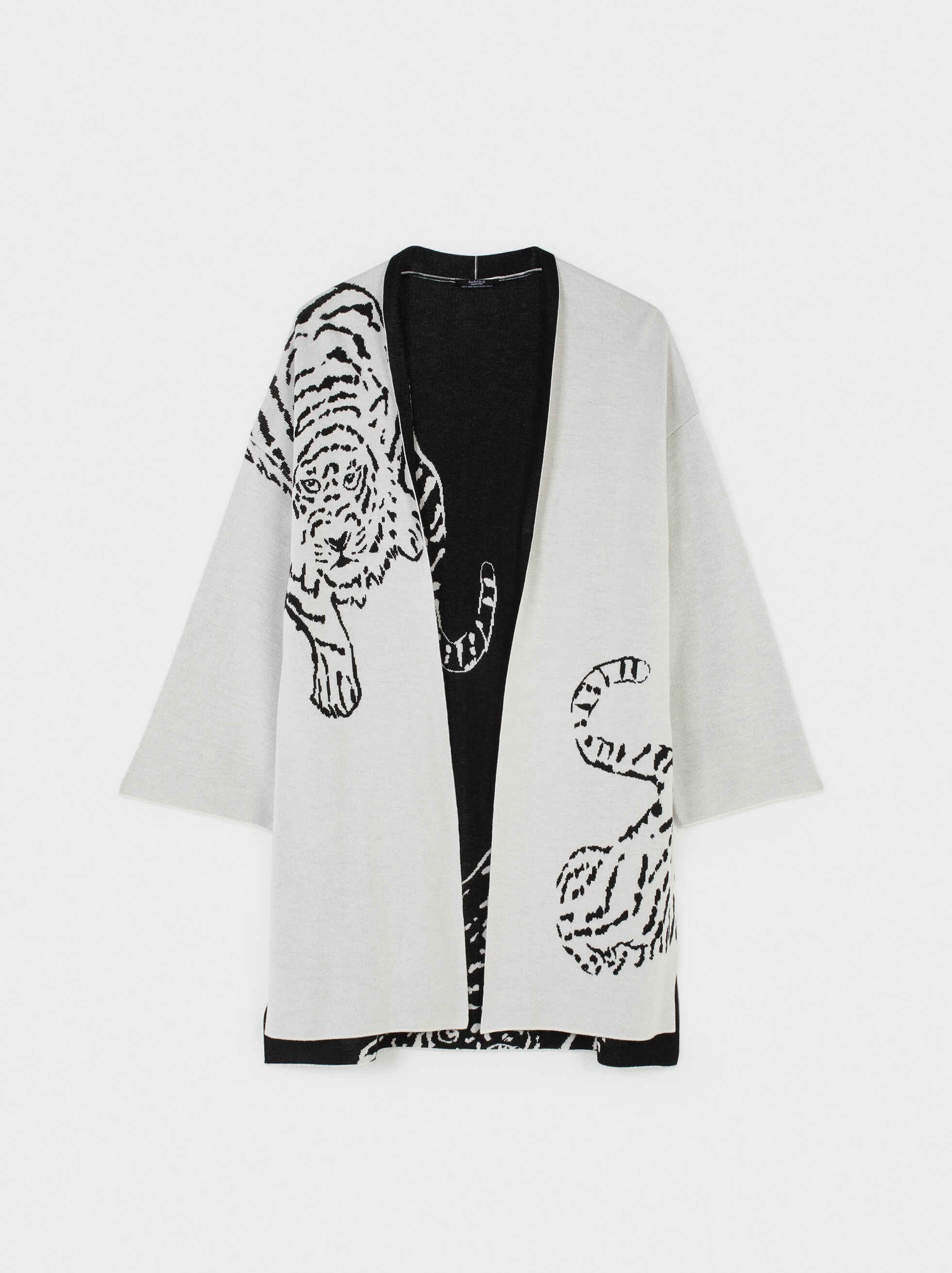Kimono Jacquard, Blanco, hi-res