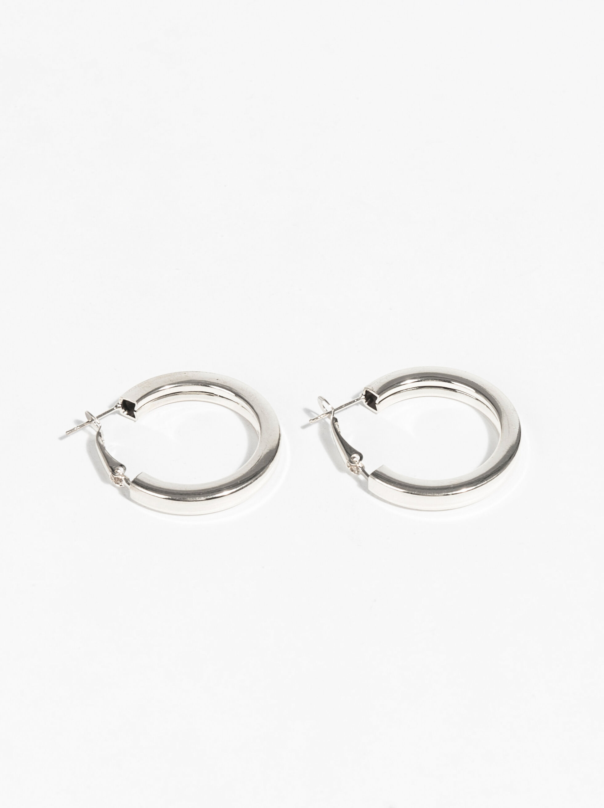 Basic Grandes Hoop-Earrings, Silver, hi-res