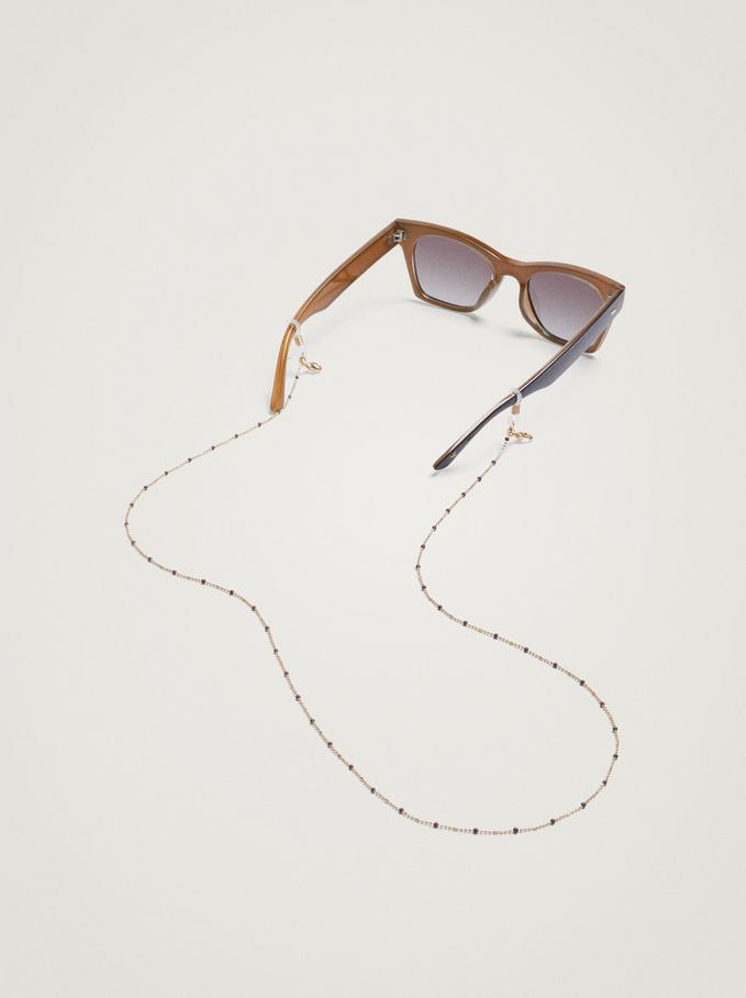 Fita Para Máscara E Óculos Com Missangas, Roxo, hi-res