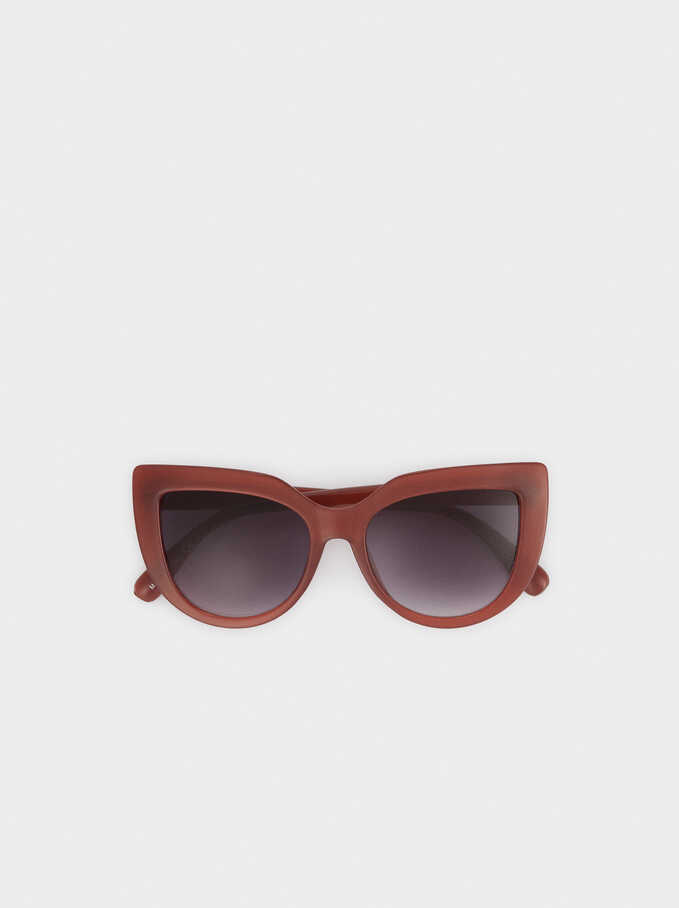Resin Cat-Eye Sunglasses, Purple, hi-res