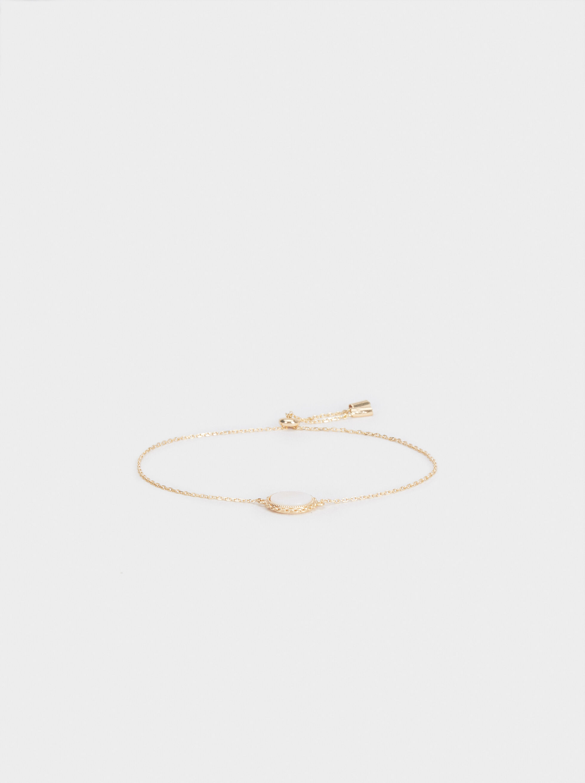 Adjustable 925 Silver Bracelet , Beige, hi-res