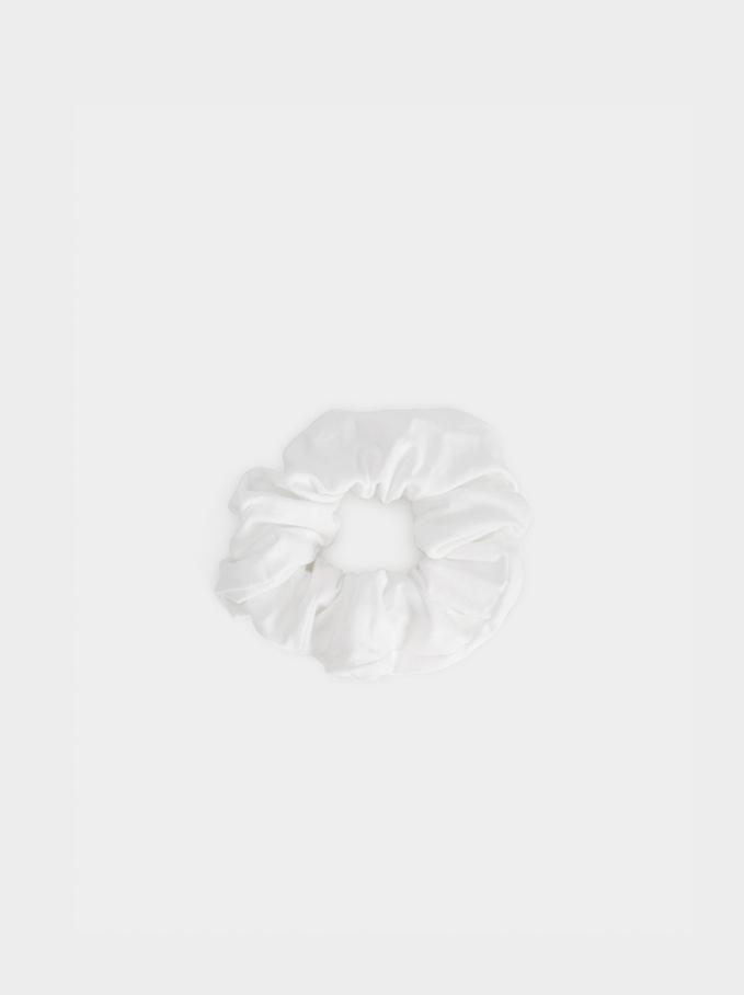 Basic Scrunchie, White, hi-res
