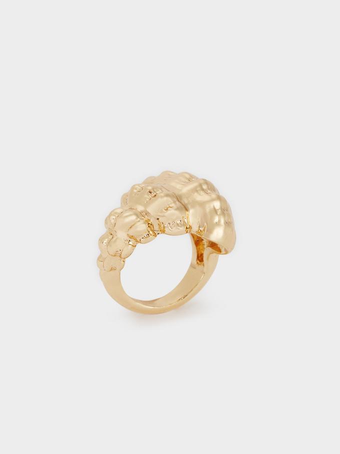Golden Seashell Ring, Golden, hi-res