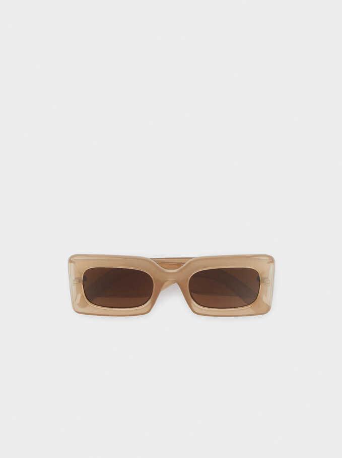 Gafas De Sol Con Montura Cuadrada, Rosa, hi-res