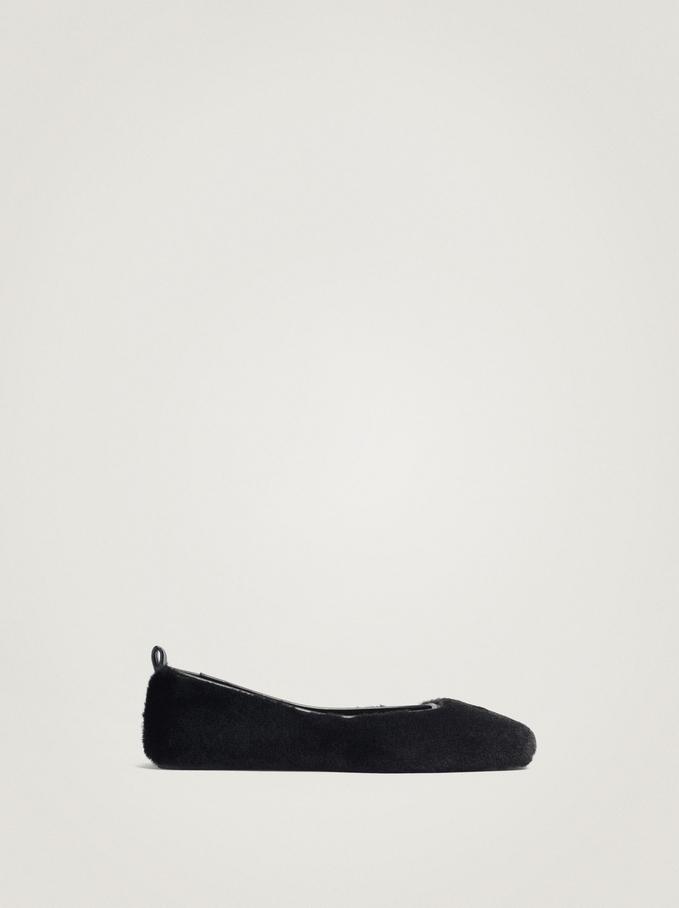 Fur Ballerinas, Black, hi-res