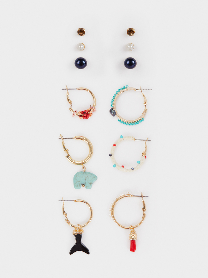 Recife Hoop Earring Set, Multicolor, hi-res