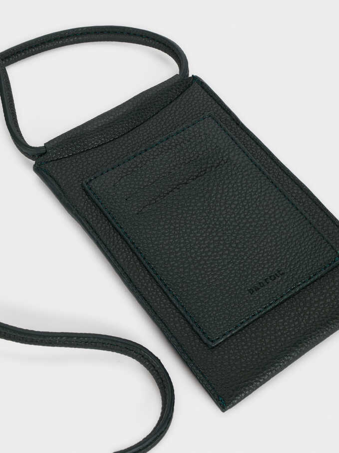 Phone Case With Shoulder Strap, Green, hi-res