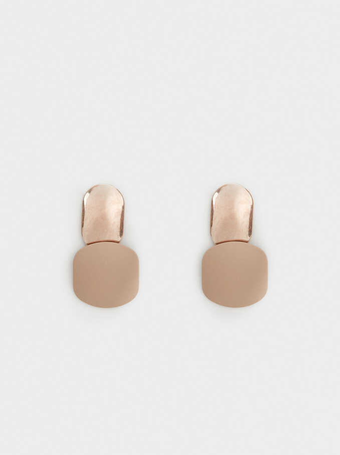 Skin Earrings, Pink, hi-res