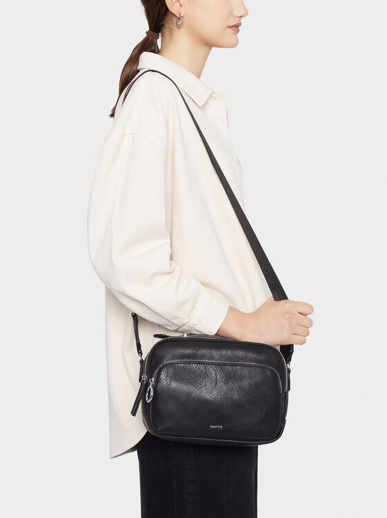 Shoulder Bag With Outer Pockets, , hi-res