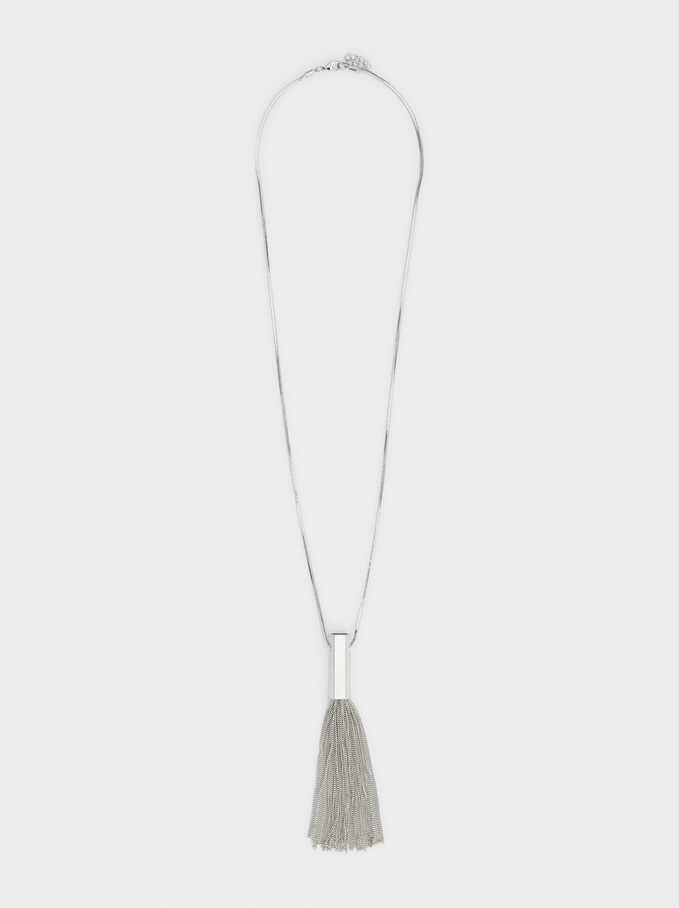 Silver Basics Long Necklace, Silver, hi-res