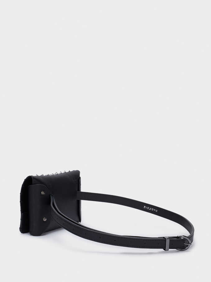 Belt With Link Bag, Black, hi-res