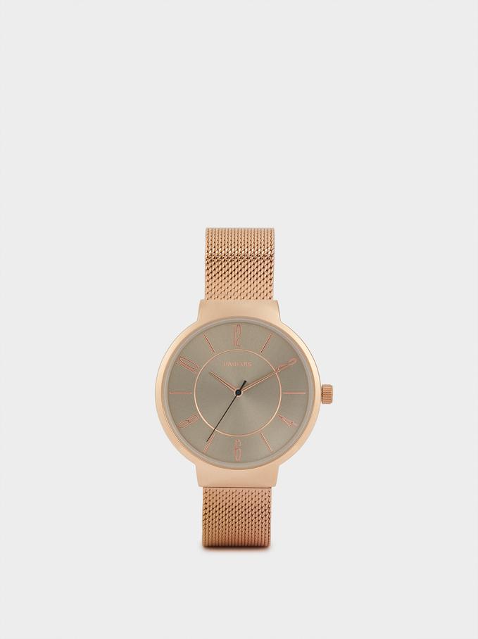 Relógio Com Braceletes Intercambiáveis, Prateado, hi-res