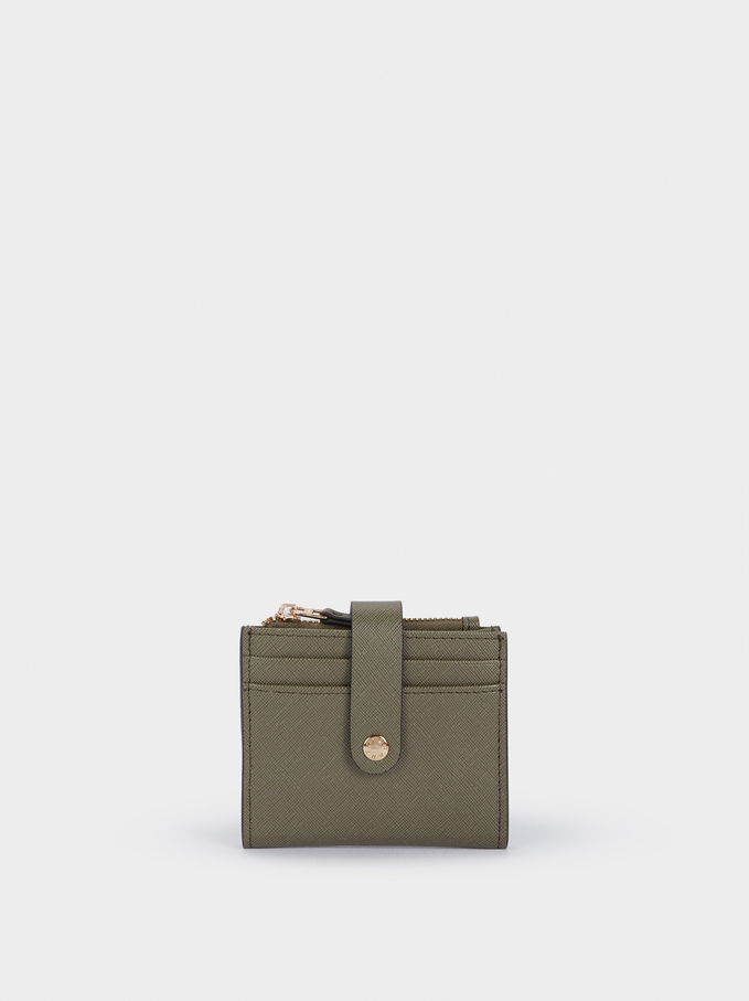 Card Holder Purse, Khaki, hi-res