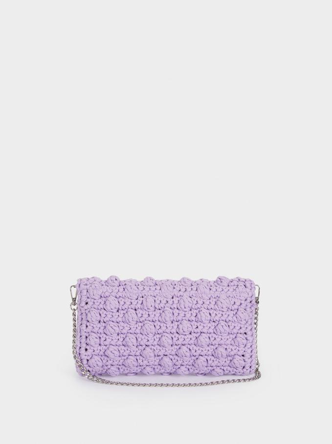 Bolso De Hombro Crochet, Violeta, hi-res