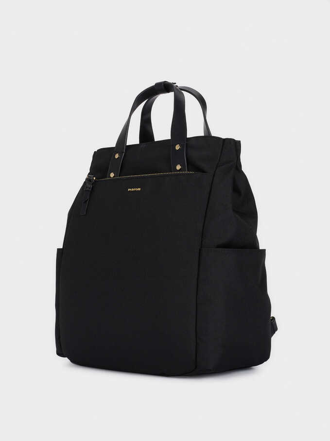 Backpack Made With Recycled Materials, Black, hi-res