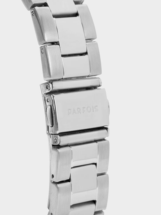 Watch With Silver-Toned Dial Accents, Silver, hi-res