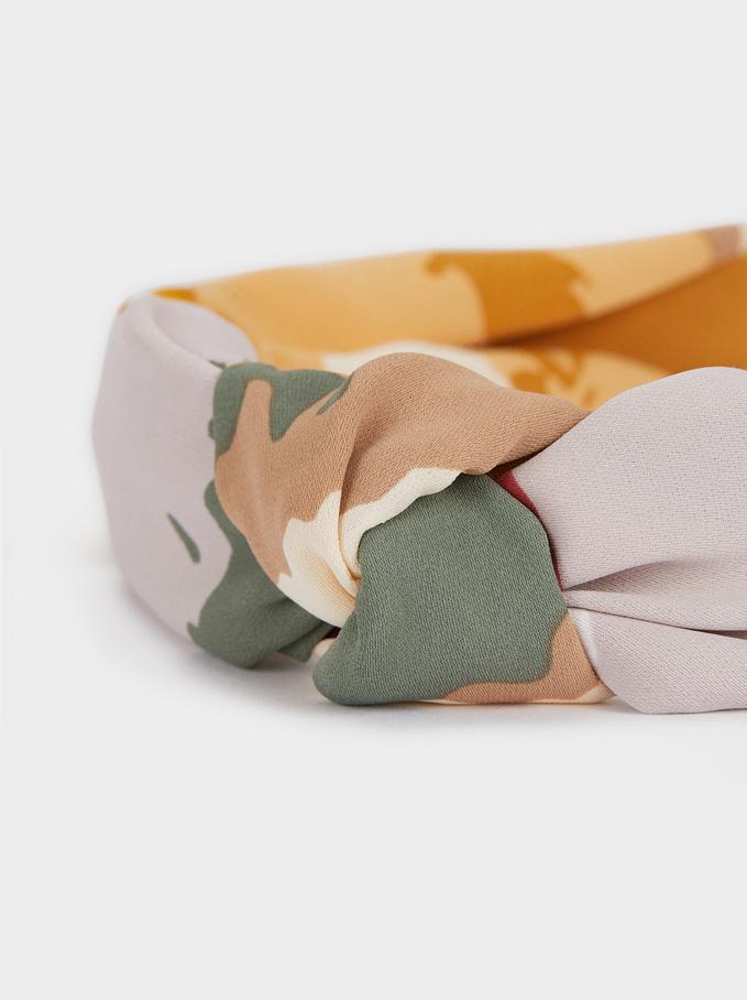 Multicoloured Printed Headband, Multicolor, hi-res