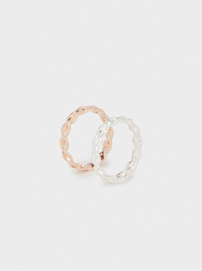 Set Of Chain Rings, Multicolor, hi-res