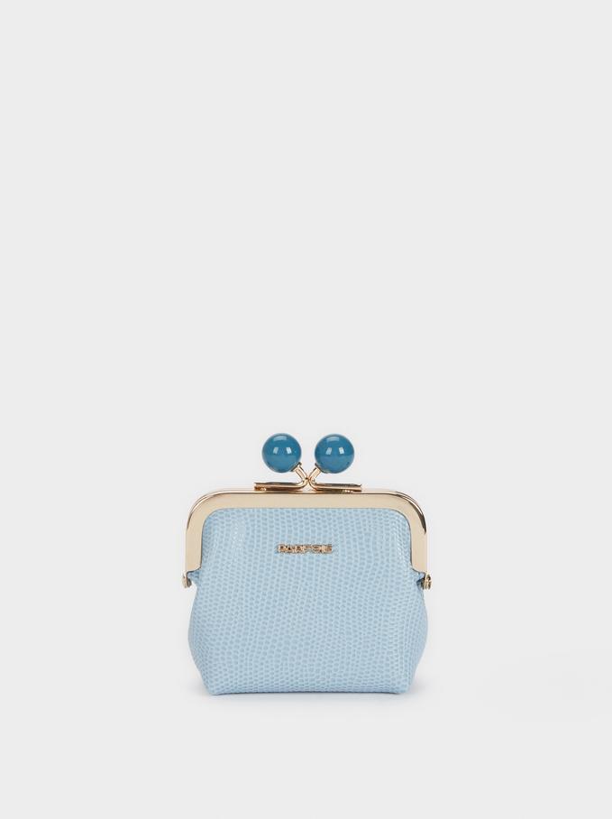 Multicolour Braided Purse, Blue, hi-res