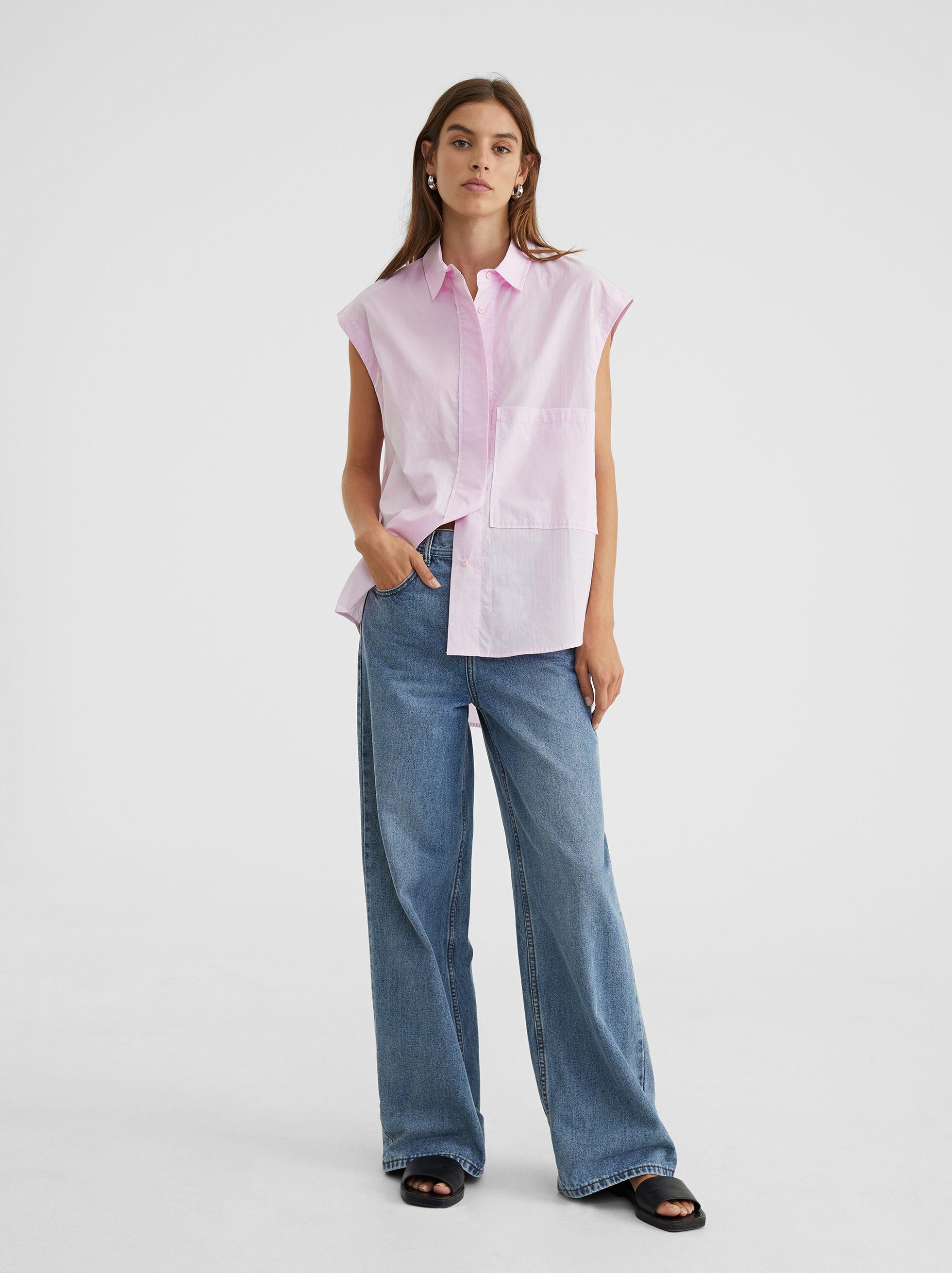 Oversized Sleeveless Shirt, , hi-res