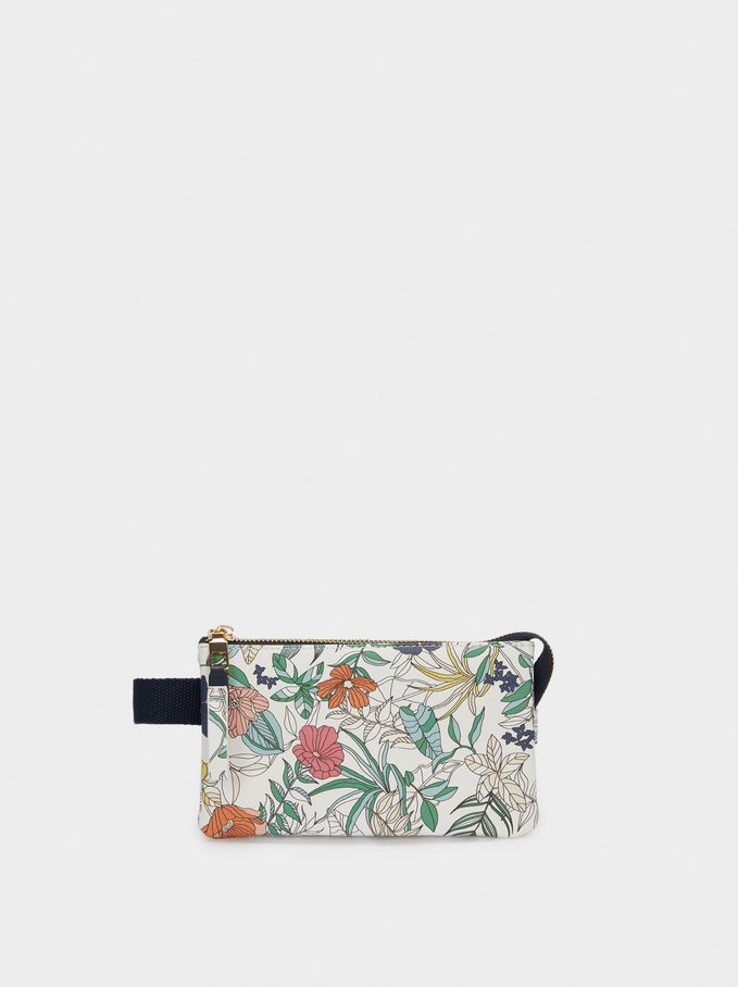 Floral Print Multi-Purpose Bag, Navy, hi-res
