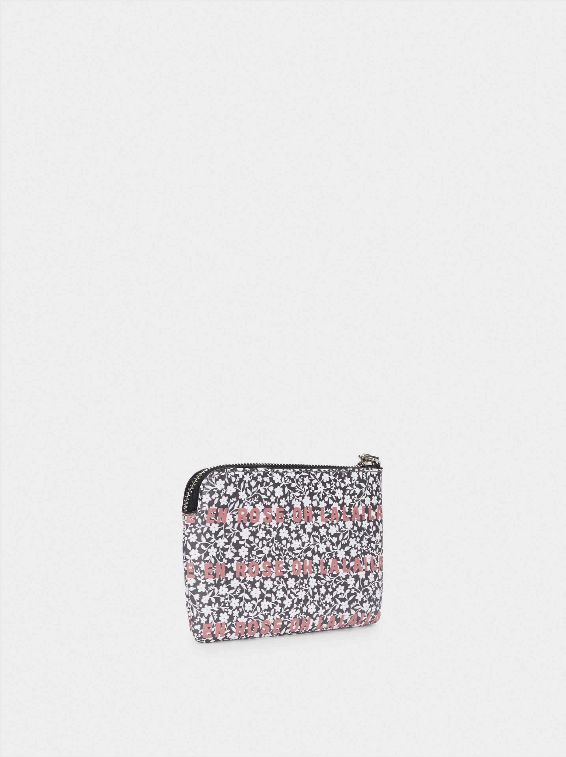Purse With Handle, Grey, hi-res