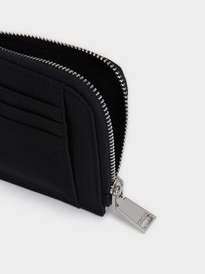 Nylon Card Holder, Black, hi-res