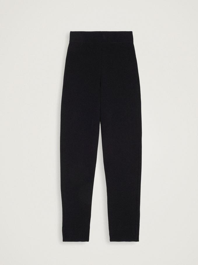 Jogger-Style Trousers, Black, hi-res