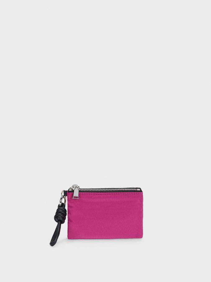 Compact Nylon Wallet, Pink, hi-res