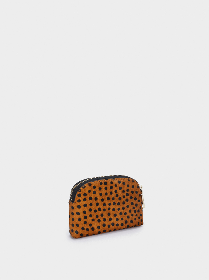 Leather Coin Purse, Blue, hi-res