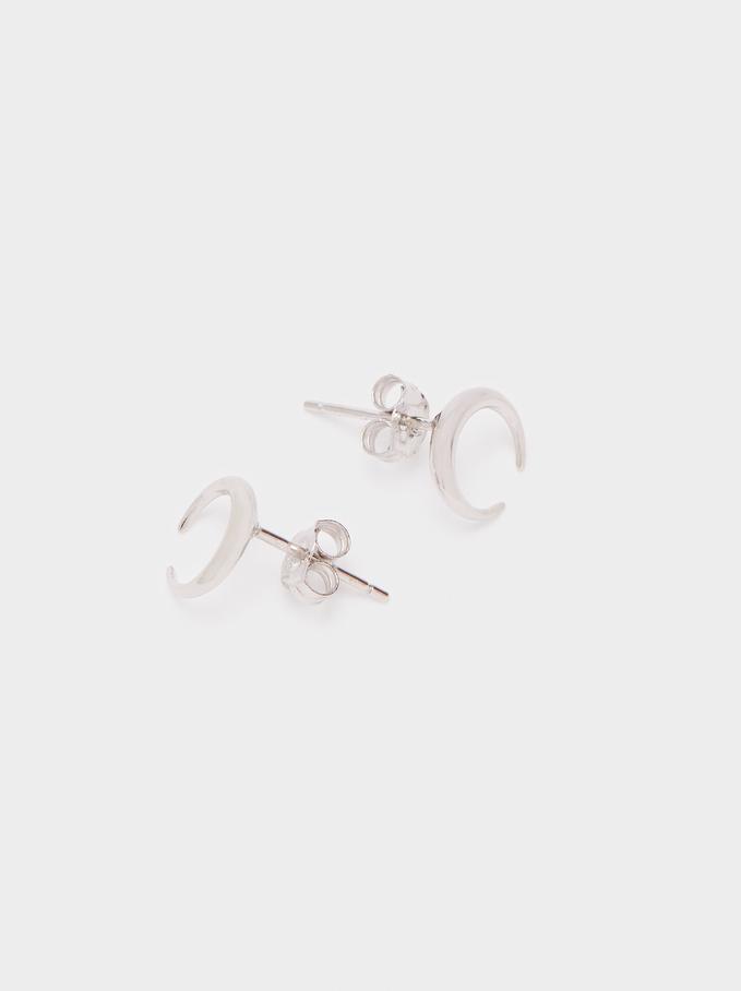 925 Silver Earrings, Silver, hi-res