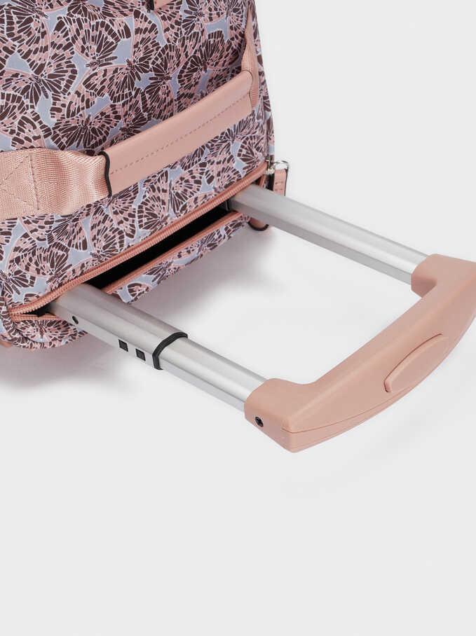 Printed Suitcase, Pink, hi-res