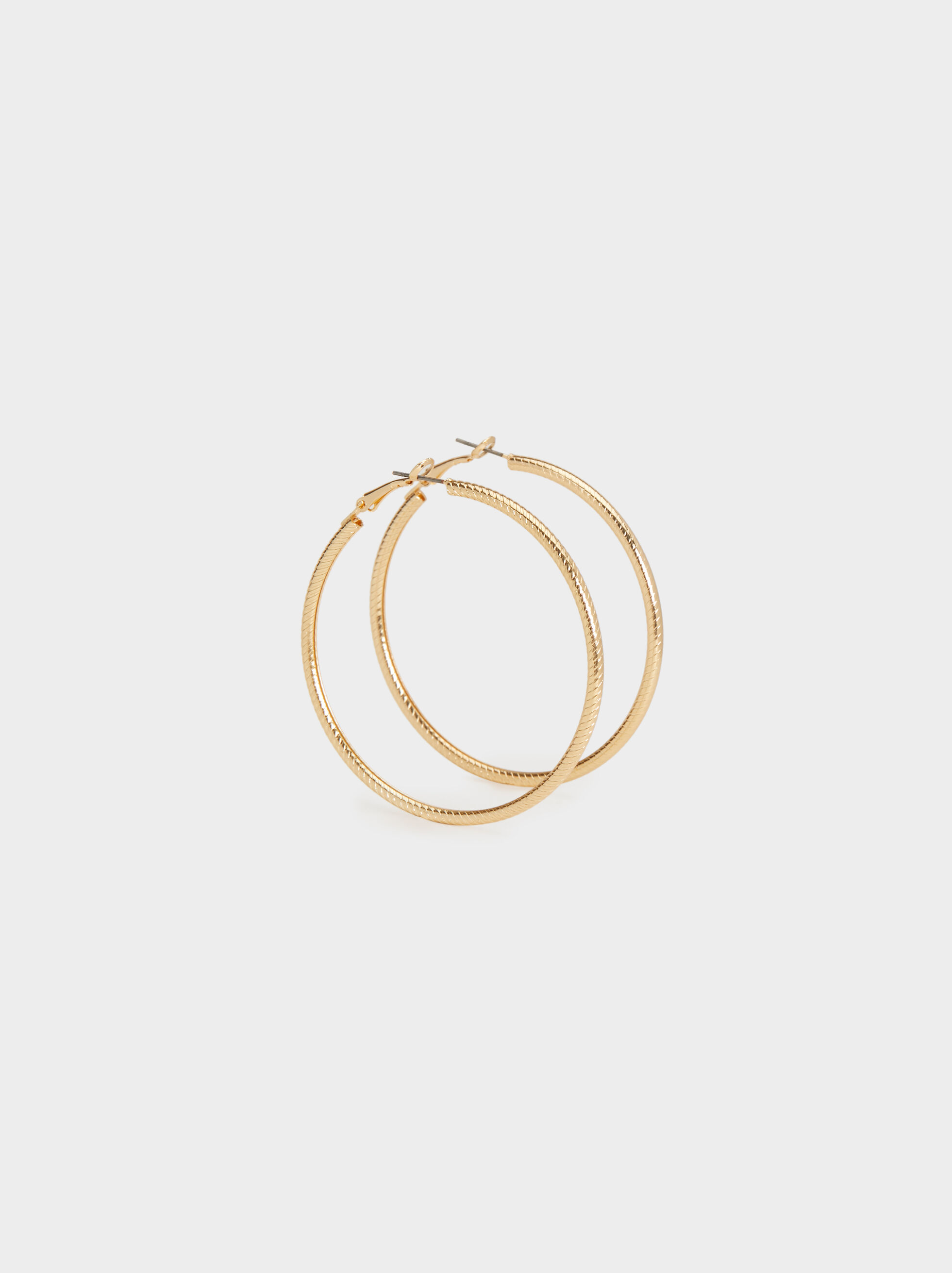 Hoop Fever Large Textured Hoop Earrings, , hi-res